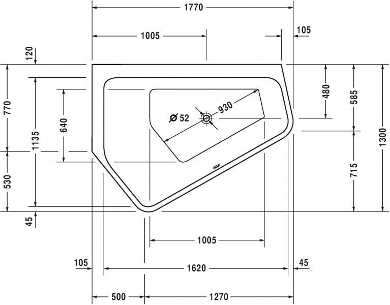 duravit paiova 5 badewanne 177 x 130 ecke rechts oder links mit nahtloser acrylverkleidung und. Black Bedroom Furniture Sets. Home Design Ideas