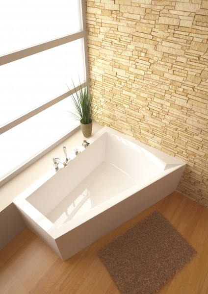 Raumspar badewanne galia ii 175 x 135 x 52 cm rechts - Villeroy und boch badewanne whirlpool ...