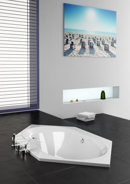 whirlpool exklusiv 190 x 106 cm 6 eck badewanne fiona. Black Bedroom Furniture Sets. Home Design Ideas