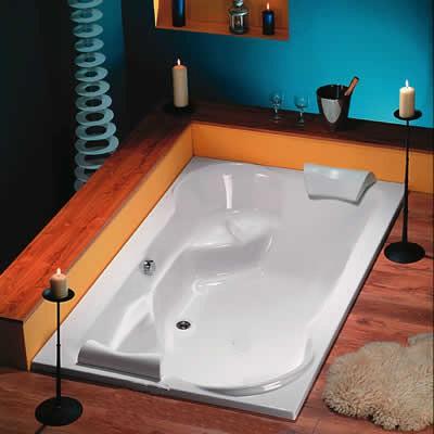 whirlpool exklusiv 200x120x45 cm badewanne duo 2 personen. Black Bedroom Furniture Sets. Home Design Ideas