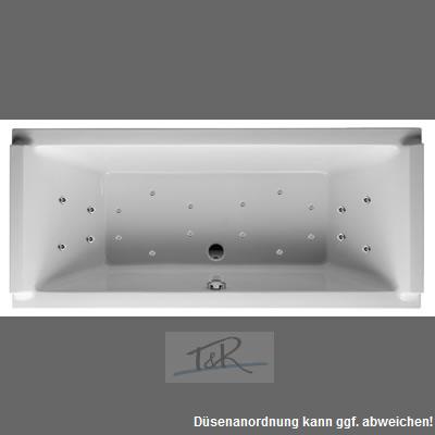 badewanne duravit starck 190 x 90 x 48 5 cm mit t r kombi whirlpool system exklusiv. Black Bedroom Furniture Sets. Home Design Ideas